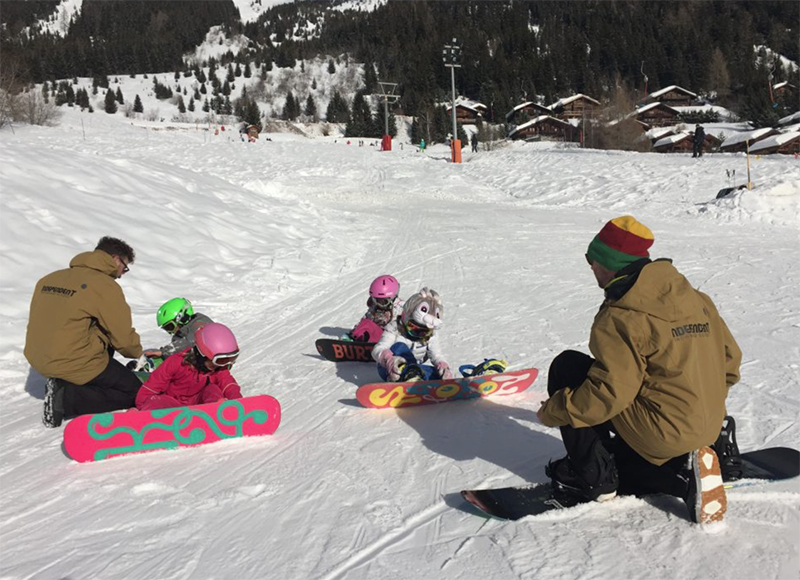 Kids love Snowboarding