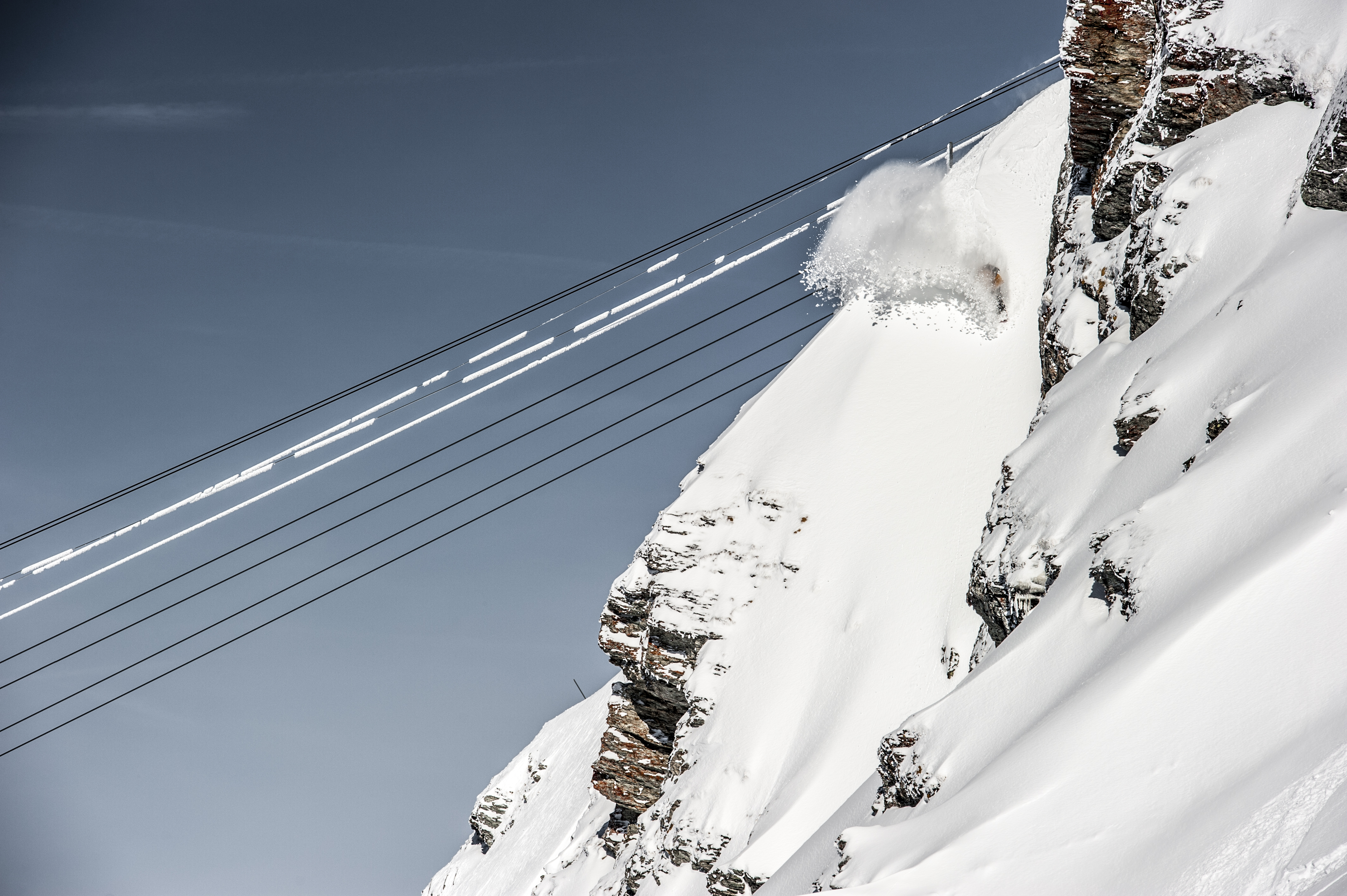 Extreme Snowboarding in Verbier with Freeride World Tour rider Andre Sommer